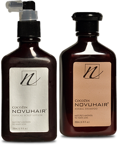 Nuvohair Topical Scalp Lotion and Nuvohair Herbal Shampoo
