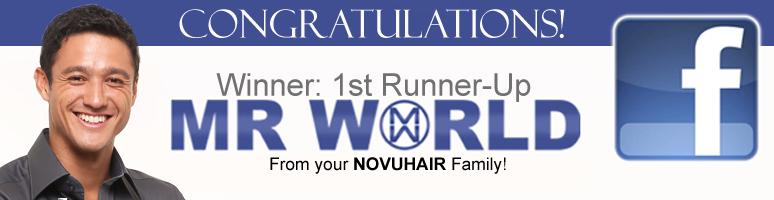 Mr World First Runnerup winner Andrew Wolff