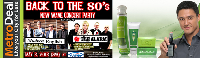 Back to the 80s New Wave Concert Party Online Promo