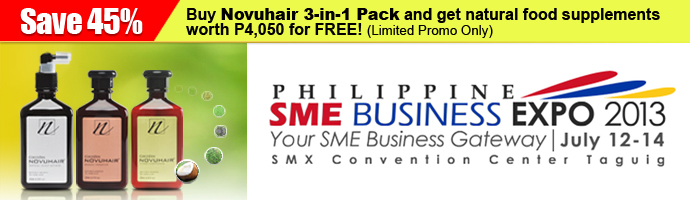 PHIL SME Business Expo 2013 Novuhair 3in1 Promo Bundle Limited Offer