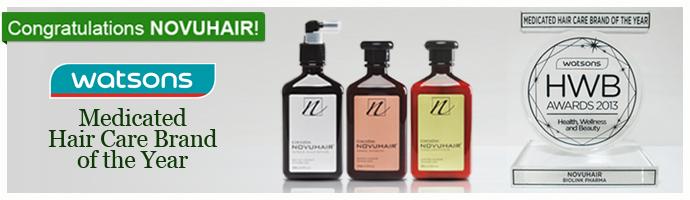 Watsons HWB Award Medicated Hair Care Brand of the Year 2013 NOVUHAIR