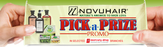 Novuhair Pick_A_Prize Promo at Mercury Drug Updated