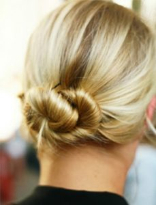 A Twisted Low Bun