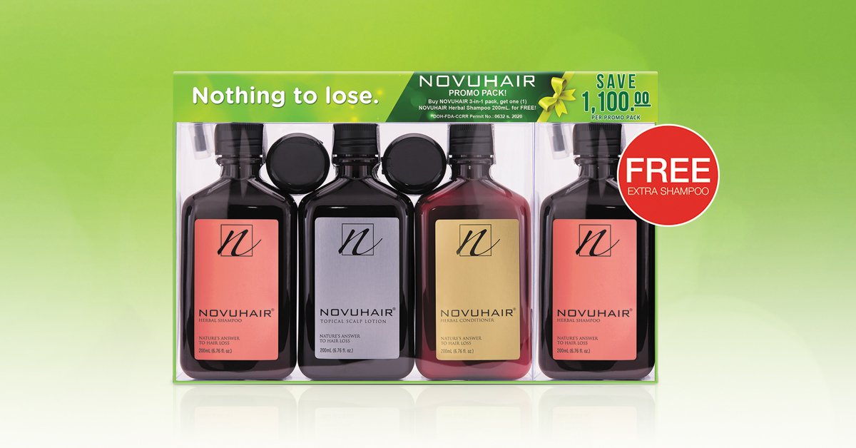 NOVUHAIR 3-in-1 Plus FREE Shampoo Promo at Watsons